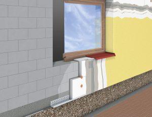 sectiune montaj termoizolatie exterioara sibiu tencuiala decorativa finisaj